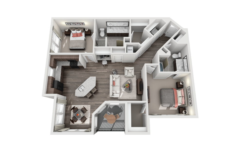 B2X - 2 Bedroom, 2 Bath